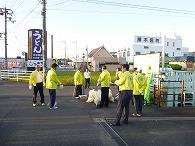 大門駅時計台周辺清掃9